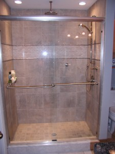 Custom Shower with Rain Faucet